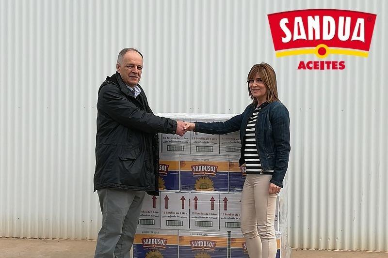Sandúa dona 660L de aceite al Banco de Alimentos de Navarra