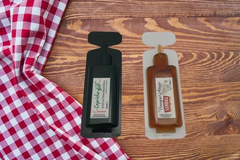 Monodosis de aceite de oliva virgen extra para la reapertura de la hostelería
