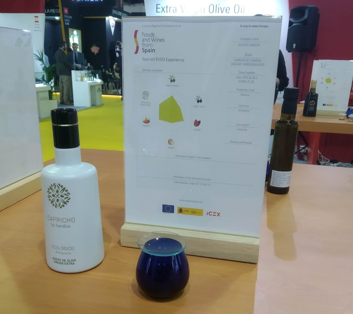 The new organic oil from Sandúa selected for the I Spanish Evoo Experience of Gulfood, in Dubai