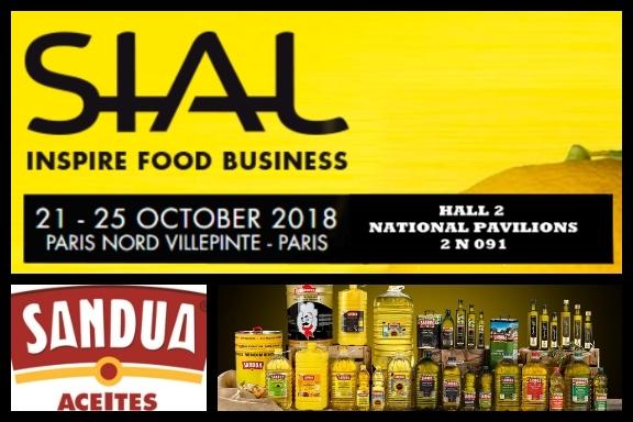 Aceites Sandúa presenta en SIAL París sus novedades para el mercado internacional