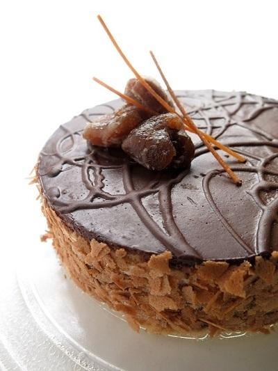 Receta fácil de tarta de castañas con chocolate, sin horno