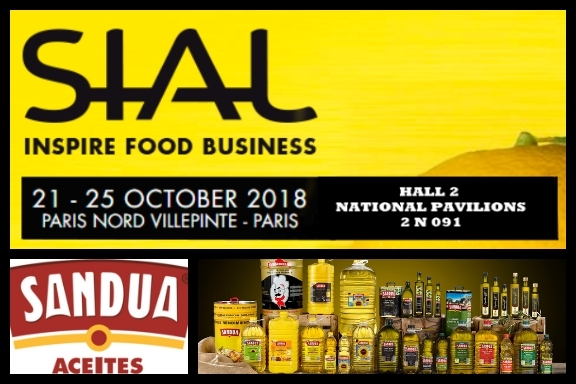 Aceites Sandúa presents its news  for the international market at SIAL Paris