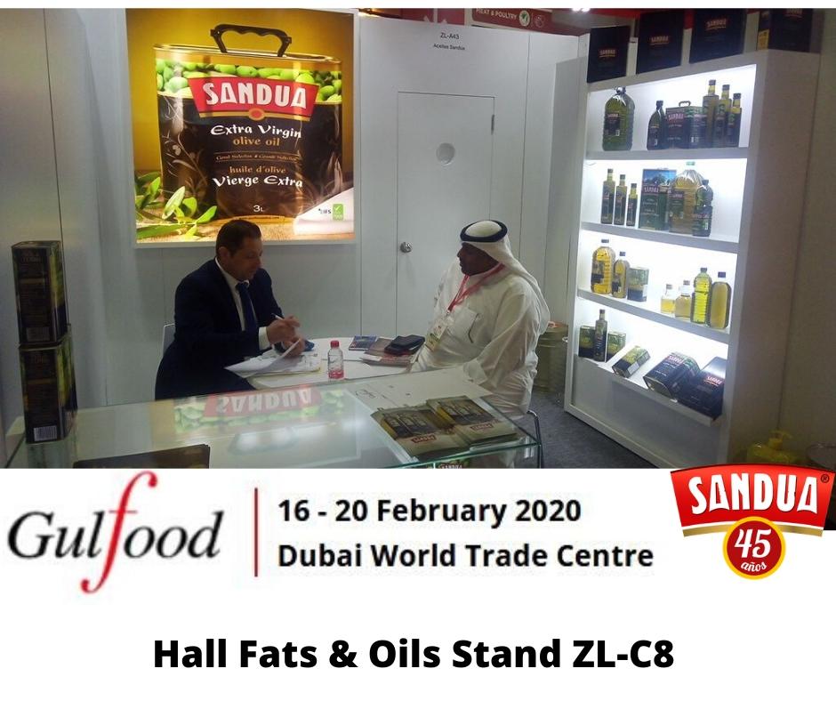 Sandua will make their new oils public in Gulfood 2020